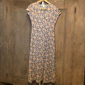 Vintage 90s fit and glare button front dress